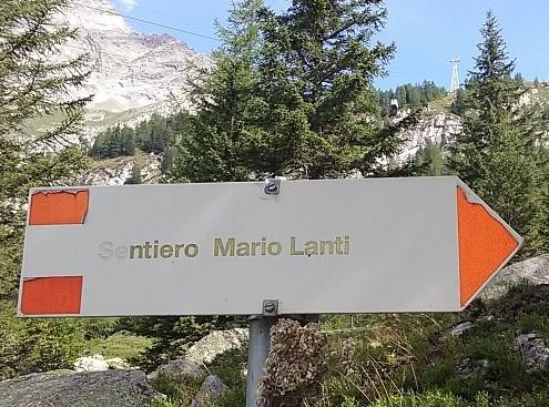 Cartello Sentiero Lanti
