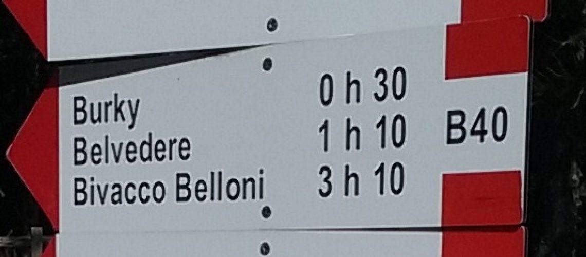 Cartello Belvedere
